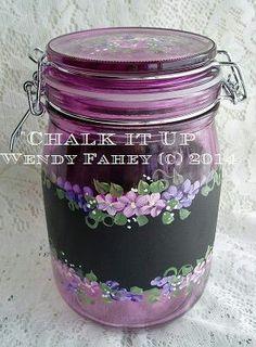 Chalkboard paint on glass - DecoArt