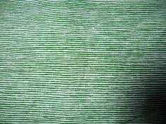 V233 Vintage Sheet Fat Quarter Green and White Stripe Marimekko FQ. $1.75, via Etsy.
