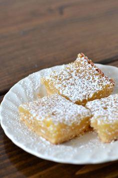Vegan Meyer Lemon Bars via Sift & Whisk