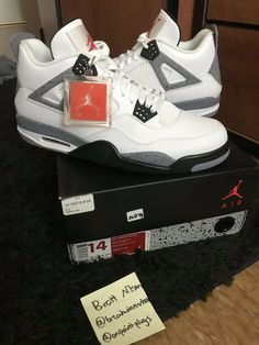 f8395510bca5 Air Jordan Retro 4 White Cement 2012 DS sz 14  fashion  clothing  shoes