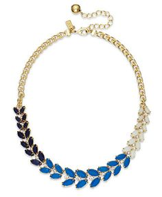 kate spade new york Gold-Tone Blue Stone Collar Necklace