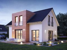 Häuser LifeStyle 28 von massa haus GmbH How Bad Is The Air In Your House? Small Farmhouse Plans, White Farmhouse Exterior, Country House Plans, Modern Farmhouse Style, Modern House Plans, Small House Plans, Farmhouse Design, Modern House Design, The Loft