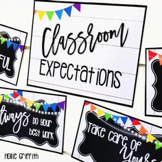 "Farmhouse Flair Primary Classroom Rules Posters: These classroom rule posters will add the perfect touch to your farmhouse classroom decor! There is an editable PowerPoint file included. I love the farmhouse trend, but I also love a BRIGHT and cheery classroom. This classroom decor bundle is full of galvanized metal, chalkboards, lanterns, string lights, shiplap, and PRIMARY brights to liven it up! It is sure to give you the PERFECT ""home away from home."" #HollieGriffithTeaching #Farmhouse"