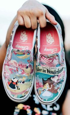 Get yourself a pair of fun sneakers for Disney World, like these Alice in Wonderland classic slip-on Vans. I have this exact pair! Source by frostxsun shoes Disney Vans, Disney Shoes, Best Sneakers, Sneakers Fashion, Alice In Wonderland Shoes, Disney Inspired Fashion, Disney Fashion, Inspired Outfits, Disney Bound Outfits