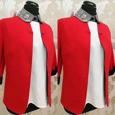 #blazer #giacca #rossa #tessuto #tecnico #valeria #abbigliamento