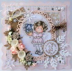 A Sprinkling of Glitter: Tilda's Puppy - Addicted To Stamps DT Card & Candy