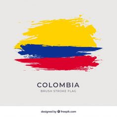 Brush stroke flag of columbia Free Vector Vector Brush, Vector Free Download, Flag Design, Magazine Template, Brush Strokes, Brochure Design, Illustration Art, Lettering, Tatoo