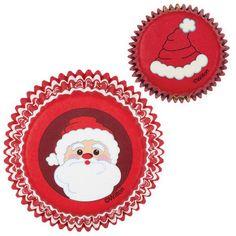 Santa Christmas Cupcake Liners