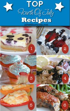 Top Fourth Of July #Recipes #Patriotic