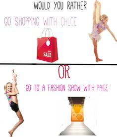 Dance moms would you rather credit to SprouseTwins&Kendallxoxo should I make more?