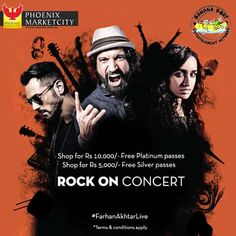 Rock On Concert - Farhan Akhtar live at Phoenix Marketcity Bangalore on 28 October 2016