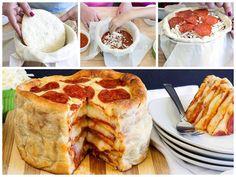 Deliciosa tarta de pizza