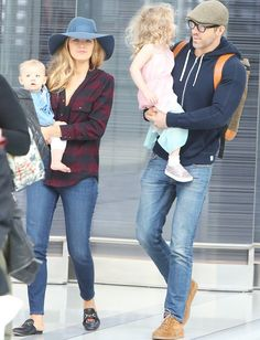 Blake Lively, Ryan Reynolds, and their two cute daughters were the chicest family at the airport—see the photo here.