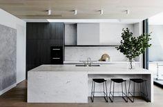 Alerta tendência - Cozinhas em Preto e Branco  - by http://home-styling.blogspot.pt