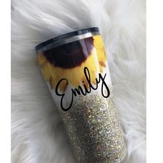 Excited to share this item from my shop: Sunflower glitter tumbler / Glitter tumbler / Chunky Glitter Tumbler / Nurse Cup / Gift for Her / Bridesmaid gift / Bride / Nurse gift / RN Cute Christmas Gifts, Personalized Christmas Gifts, Personalized Wedding Gifts, Christmas Tumblers, Starbucks Christmas, Christmas Ideas, Custom Starbucks Cup, Cute Birthday Gift, Wedding Gifts For Couples