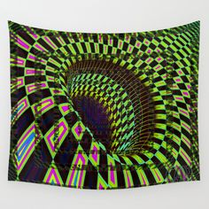 Tumbler #26 Optical Illusion Psychedelic Trippy Vibrant Design Wall Tapestry