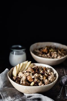 I have been making oatmeal for the longest I can remember and I think this caramelized apple oatmeal is by far one of my favorite versions.