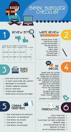 Book Blogging Checklist by Parajunkee #bookblog #blogging