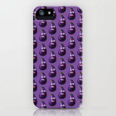 Funny Cartoon Eggplant Pattern #iPhone & iPod Case $35.00 #iphonecase