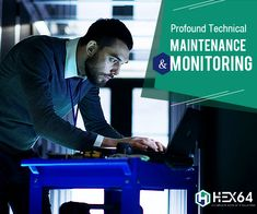 HEX64 offers managed services like maintenance of remote infrastructure and vigilante 24x7 server monitoring. More info @ www.hex64.net/services/remote-help-desk  #MaintenanceServices #ItSecuritySolutions