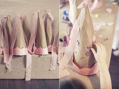 Gorros de princesas para hacer en el cumpleaños