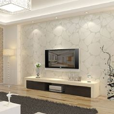 T non woven wallpaper modern brief pearl silver bird nest tv background wall wallpaper-inWallpapers from Home Improvement on Aliexpress.com