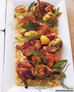 Give poussins (young chickens) or Cornish game hens an exotic accent by marinating them in coriander, cracked peppercorns, cilantro, and orange and lemon juice and zest before grilling.