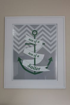 sailing song posters designed for Camden's nursery
