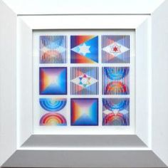Coming Up in our July Modern & Contemporary Art Auction (Wednesday, 7/27/16, 11 am EST)--Yaacov Agam, Nine Up, Agamograph - Opening Bid: $2,000