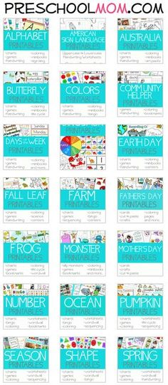 30+ Free Preschool Printables Themes Repinned by SOS Inc. Resources pinterest.com/....