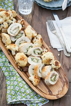 » Prosciutto Pesto Chicken Roulade- Thin strips of chicken rolled up with dairy-free pesto sauce and salty prosciutto.