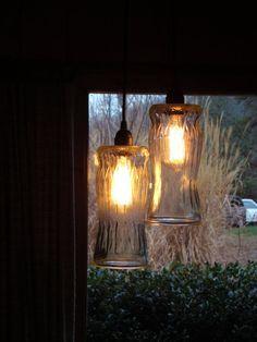 Lámpara de tarros
