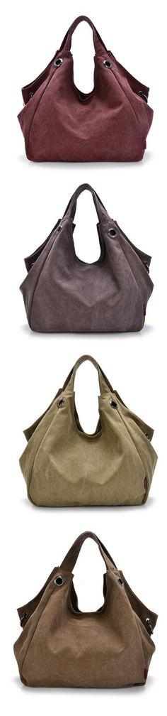 US$22.41  Women Canvas Casual Hobo Large Capcity Crossbody Bag