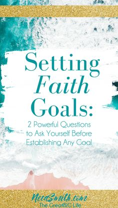 Setting Goals can be exciting and scary at the same time however if you are a believer there are some questions you need to ask in order to establish faith and godly go. Christian Women, Christian Living, Christian Faith, Christian Quotes, Questions To Ask, This Or That Questions, Faith Goals, Sisters In Christ, Spiritual Growth