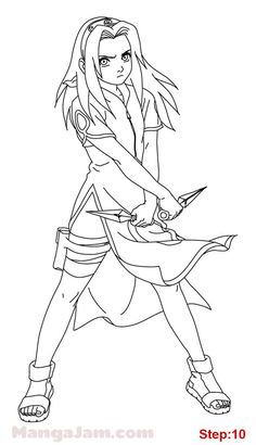 Naruto Sketch, Manga Naruto, Naruto Kakashi, Naruto Art, Anime Sketch, How To Draw Naruto, Sakura Haruno, Anime Sakura, Naruto Drawings Easy