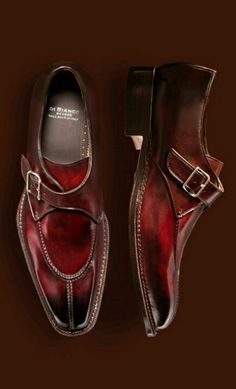 Wine colored leather slip on.  Classic.