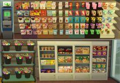 SimLifeCC • Sims 4 Grocery Store Stuff! Various non...