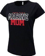 Proud to be a Marine Mom shirt, every USMC Mom needs a whole closet full of Moto Mom gear
