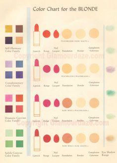 1950s-makeup-chart-for-blondes-helena-rubinstein.jpg 859×1,200 pixels CHARLOTTE