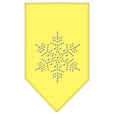 Snowflake Rhinestone Bandana Yellow Small