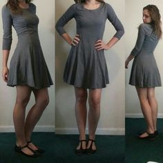Grey Skater Dress From Forever 21 size small Forever 21 Dresses Mini