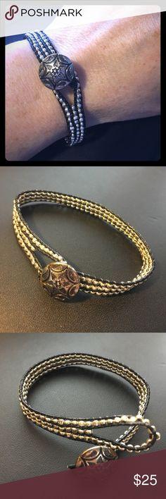 Handmade Black Leather Wrap Bracelet Please feel free to ask questions... North + Main Jewelry Bracelets