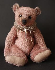 """новый 16.5 """"дизайн медведь сделаны из очень красивой, ручной окрашенные палисандр розовый, плотности мохера среднего. Он был аккуратно пробл..."""