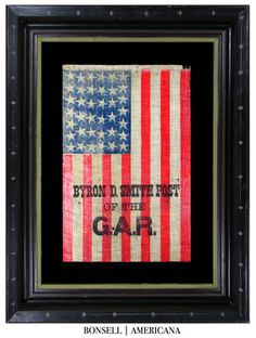 38 Star Antique Flag with a GAR Overprint and Tightly Packed Stars 1.jpg