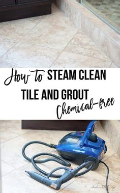 How to clean grout on tile floors without scrubbing naturally without chemicals. green cleaning bathroom or kitchen grout is super easy! #AnikasDIYLife #cleaningtips #greencleaning #diy