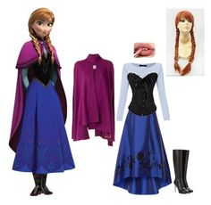 """""""Anna- Help From Adrianna (little Sis)"""" by batgirl-at-the-walking-dead3 ❤ liked on Polyvore featuring Disney, Sachin + Babi, Les Copains, Jimmy Choo and Lilly Sarti"""