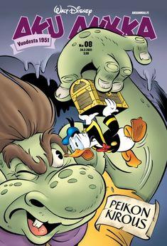Aku Ankka 08/2021 Comic Book Covers, Comic Books, Finland, Comics, Reading, Disney, Reading Books, Cartoons, Cartoons