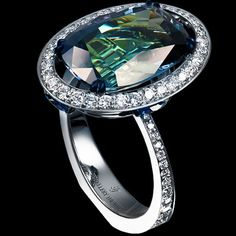 Jewellery Theatre, Carnival collection, Carnival ring, tanzanite, diamonds and sapphires, view 2