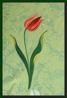 ebru marbling tulip