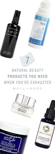 Natural beauty products for people who are always tired.